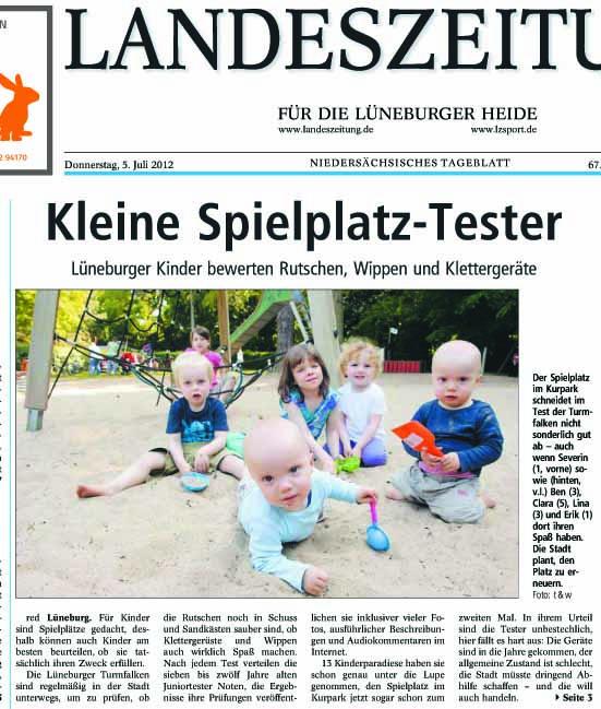 Landeszeitung vom 05.07.12, Seite 1